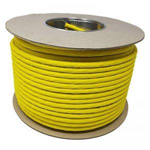 100.0 m - Cat. 7 A + (CAT 8) réseau Ethernet LAN Enrouleur de câble (tambour) 1500 MHz - 4 paires - High Speed - sans halogène/cuivre/Super rapide - (POE)/PoE + (Jaune) de la marque Reulin image 0 produit