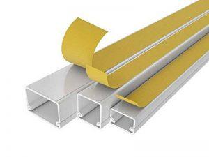 20m de câble Canal scos L x l x h) 2000x 25x 16mm PVC câble Barre Blanc autoadhésif pour ventouse de la marque StilBest image 0 produit