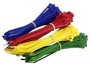 200Multi Lot de coloré Attaches de câble–Premium Rouge, Vert, bleu et jaune Tie Wraps–Haute Qualité solide en nylon Zip Ties par Gocableties, multicolore de la marque Gocableties image 0 produit