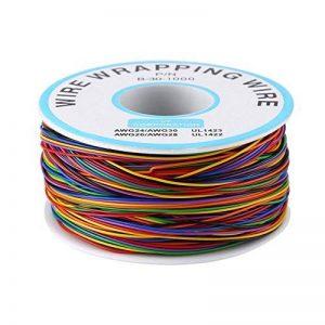280m 8 Fils 30AWG Rouleau de Câble Electrique de Cuivre Etamé Isolant en PVC P/N B-30-1000 de la marque Walfront image 0 produit