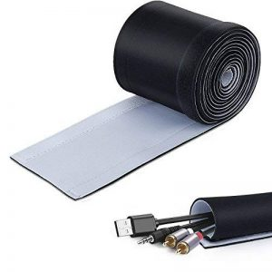 3M Câble Rangement du Néoprène, ZWOOS Organisateur et Protecteur de Cache Range Câble Imperméable pour PC/TV/Büro/Telefone, Noir et Blanc Réglable de la marque ZWOOS image 0 produit