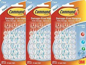 3M Command Adhésif Décoration Clips Transparent - Ensemble de 3 (60 clips) de la marque Command image 0 produit
