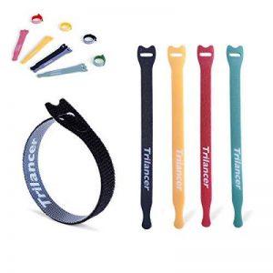 40PCS Attaches de câble Trilancer réutilisable Fermeture en Nylon Microfibre Organisateur pour Cordes et Gestion des Câbles 15cm 4 couleurs de la marque Trilancer image 0 produit