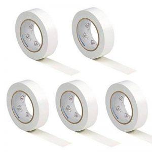 5 rouleaux VDE Ruban Isolant Électrique Bande Isolatrice PVC 15mm x 10 DIN EN 60454-3-1 couleur: blanche de la marque AUPROTEC image 0 produit