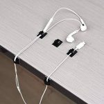 50 Pièces Attache-Câbles Autocollants Attache-Câbles en Plastique Rectangle Clips de Fils pour la Gestion des Fils Serre-Câble pour Voiture, Bureau et Maison de la marque Hicarer image 4 produit