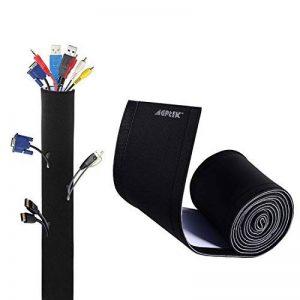 AGPTEK 290cm Câble Rangement du Néoprène, Cache-câble Ideal pour Ranger ou Cacher Les Cables,1 pièce (290cm*13.5cm) de la marque AGPTEK image 0 produit