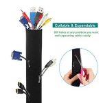 AGPTEK 290cm Câble Rangement du Néoprène, Cache-câble Ideal pour Ranger ou Cacher Les Cables,1 pièce (290cm*13.5cm) de la marque AGPTEK image 1 produit