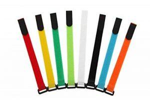 AGPTEK Colorful Nylon Réutilisables Attaches de Câble et Cable Rangement Ensemble de 16 pcs, 8 Couleurs de la marque AGPTEK image 0 produit