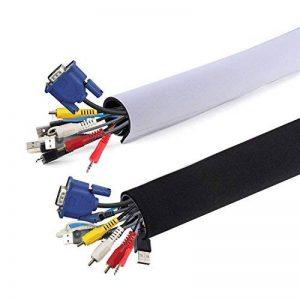 AGPtek Rangement de Câble en Néoprène (149cm*13.4cm), CS1 cache-câble Ideal pour Ranger ou Cacher les câbles, Gaine pour câbles de Télé ou Ordinateur de la marque AGPTEK image 0 produit
