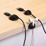 Ailiebhaus Câble Lot de 20 clips de fixation Kit de gestion des câbles clips Câble de charge de la marque Ailiebhaus image 2 produit