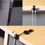 Ailiebhaus Câble Lot de 20 clips de fixation Kit de gestion des câbles clips Câble de charge de la marque Ailiebhaus image 3 produit
