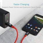 Anker Powerline+ câble USB C vers USB C 2.0 (180 cm) pour appareils avec Ports USB Type C pour Samsung Galaxy S8, S8+, Nouveau Macbook, iPad Pro 2018, Google Pixel, Nexus 6P, LG V20 G5 et Autres de la marque Anker image 1 produit