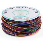 Anpro 280m 8 Fils 30AWG Rouleau de Câble Fil Electrique Câble de test Wrapping En Cuivre Etamé Isolant En PVC P/N B-30-1000 -8 couleurs pour du câblage électronique de la marque Anpro image 1 produit