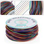 Anpro 280m 8 Fils 30AWG Rouleau de Câble Fil Electrique Câble de test Wrapping En Cuivre Etamé Isolant En PVC P/N B-30-1000 -8 couleurs pour du câblage électronique de la marque Anpro image 2 produit