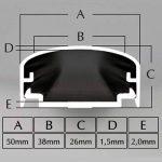 'Big Mouth Conduit de câble design en aluminium pour TV, projecteur, etc.–Noir brillant (aspect laqué)–30cm 50cm 75cm 100cm–Espace pour de nombreux–Câble complet en aluminium–Installation facile, noir, 4260128977479 de la marque BIG MOU image 4 produit
