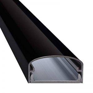 'Big Mouth Conduit de câble design en aluminium pour TV, projecteur, etc.–Noir brillant (aspect laqué)–30cm 50cm 75cm 100cm–Espace pour de nombreux–Câble complet en aluminium–Installation facile, noir, 4260128977479 de la marque BIG MOU image 0 produit