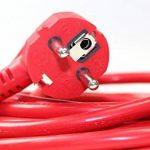 as-Schwabe 51013 Rallonge électrique Câble PVC rouge 10m H05VV-F 3G1,5 Intérieur / IP20 (Import Allemagne) de la marque as - Schwabe image 3 produit