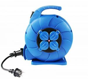 as - Schwabe 812642 enrouleur de câble électrique automatique, rallonge extérieur, 15 m câble de la marque as - Schwabe image 0 produit