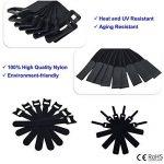 Attaches de câble 50 pièces couleur noire attaches réutilisables de câble et sangles auto-adhésives pour la gestion de câbles de câble d'USB de PC/VelcroCableTies de la marque LiteTour image 1 produit
