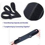 Attaches de câble 50 pièces couleur noire attaches réutilisables de câble et sangles auto-adhésives pour la gestion de câbles de câble d'USB de PC/VelcroCableTies de la marque LiteTour image 2 produit