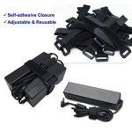 Attaches de câble 50 pièces couleur noire attaches réutilisables de câble et sangles auto-adhésives pour la gestion de câbles de câble d'USB de PC/VelcroCableTies de la marque LiteTour image 3 produit