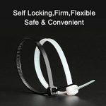 Attaches de Câble, Aival Autobloquant Zip Ties, Noir 600PCS de la marque Aival image 2 produit