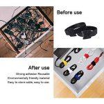 Attaches de Câble,iitrust 60PCS Attaches de Câble Velcro Réutilisable Fermeture en Nylon Microfibre Organisateur pour Cordes et Gestion des Câbles de la marque iitrust image 4 produit
