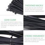 Attaches de câble,Samione Cable Attache enveloppe Nylon fixation 2.5*100 / 2.8*150 / 2.5*160 / 3.6*200 / 3.6*300 mm Noir (500 Pcs) de la marque Samione image 2 produit