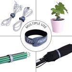 Attaches de Câble Trilancer Réutilisable Fermeture en Nylon Microfibre Organisateur pour Cordes et Gestion des Câbles 20cm 4 Couleurs (50PCS) de la marque Trilancer image 1 produit