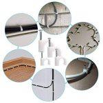 AUSTOR 600 Pièces Fil de Câble Clips Blanc en 4mm 6mm 8mm 10mm Cavalier Attache Câble pour Électrique, Ethernet, Fil Plat, Câble Coaxial, RG6, RG59, CAT6, RJ45 ou Autre Fil/ Câble de la marque AUSTOR image 3 produit