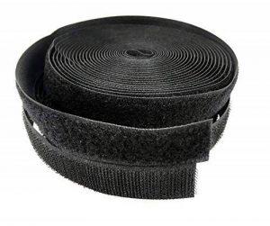 Bande velcro pour la couture noir, 5m rouleau avec 20mm largeur, chaque toison et crochet pour coudre de la marque Frogjim image 0 produit