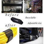 BASON Attache Cable,Sangle,Attache Cable,Lot DE 10-Noir-avec Crochet et Boucle Attache-câble en réutilisables Sangles 2,5 cm X 45 cm 10 pcs - Noir de la marque BASON image 2 produit