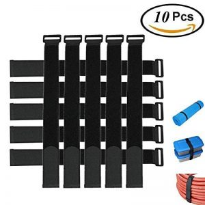 BASON Attache Cable,Sangle,Attache Cable,Lot DE 10-Noir-avec Crochet et Boucle Attache-câble en réutilisables Sangles 2,5 cm X 45 cm 10 pcs - Noir de la marque BASON image 0 produit