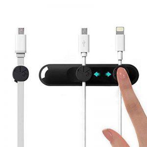 BCASE Câble Clips Magnétique, Câble Organisateur Cable Management pour Câbles d'Alimentation, Câbles de Charge, Câbles USB, Chargeurs de Téléphones Cellulaires, Câbles Audio -- Noir de la marque BCASE image 0 produit