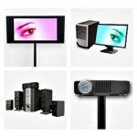 Big Mouth Conduit de câble design en aluminium pour écrans LCD et plasma Noir vernis 50 cm de la marque ac. image 3 produit