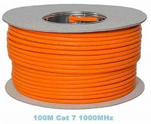 Bobine 100 m Gigabit cuivre, sans halogène Câble Ethernet Cat 7 1000 MHz de la marque Top Deals Available image 0 produit