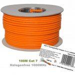 Bobine 100 m Gigabit cuivre, sans halogène Câble Ethernet Cat 7 1000 MHz de la marque Top Deals Available image 2 produit