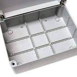 Boîte de dérivation avec couvercle à charnière de porte mm 240 x 190 mm x 90 mm-PVC-Étanche Boîtier IP56 extérieur en plastique adaptable Câble de connexion électriques de la marque ESR image 2 produit
