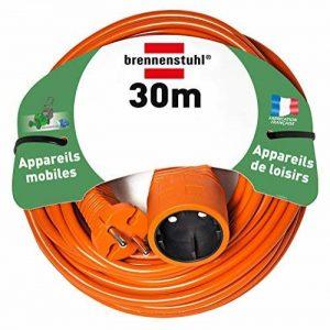 Brennenstuhl 1162301 - Cordon prolongateur (30 m) avec fiche 2P (16A/230V), rallonge électrique avec câble H05VV-F 2x1,5 - Coloris Orange de la marque Brennenstuhl image 0 produit