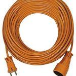 Brennenstuhl 1162301 - Cordon prolongateur (30 m) avec fiche 2P (16A/230V), rallonge électrique avec câble H05VV-F 2x1,5 - Coloris Orange de la marque Brennenstuhl image 1 produit