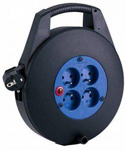 Brennenstuhl Cassette multiprise avec 4 prises 2P+T & 1 fiche 2P+T, enrouleur électrique avec câble H05VV-F 3G1,5 (10 m), noir, Quantité : 1 de la marque Brennenstuhl image 0 produit