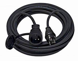 Brennenstuhl Cordon prolongateur (5 m) IP44 avec fiche & prise (2P+T 16A/230V), rallonge électrique avec câble H07RN-F 3G1,5, noir, Quantité : 1 de la marque Brennenstuhl image 0 produit