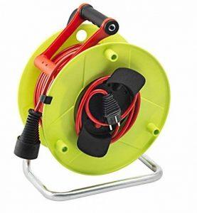 Brennenstuhl Enrouleur de câble jardin (50 m) Jardi-50, rallonge extérieure 50m avec 1 prolongateur 2P+T & 1 fiche 2P+T, vert & rouge, Quantité : 1 de la marque Brennenstuhl image 0 produit