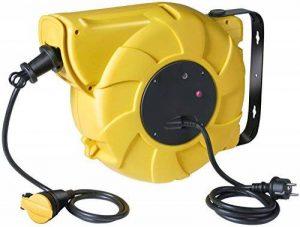 Brennenstuhl Enrouleur de câble électrique automatique (20 m + 1,5 m), tambour automatique avec 1 prolongateur à clapet & 1 fiche, jaune, Quantité : 1 de la marque Brennenstuhl image 0 produit