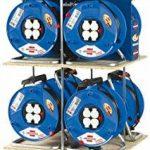 Brennenstuhl Garant 3voies prise Enrouleur de câble (25M de longueur de câble, poignée ergonomique), câble Couleur: Noir de la marque Brennenstuhl image 1 produit