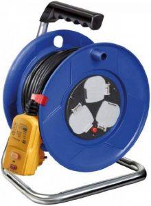 Brennenstuhl Garant Dévidoir de câble prise 3voies avec Rcd-plug (25M de longueur de câble, 30mA, poignée ergonomique), câble Couleur: Noir de la marque Brennenstuhl image 0 produit