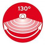 Brennenstuhl Lampe LED solaire avec détecteur de mouvements infrarouge, projecteur solaire (IP 44) à LED (8 x 0,5 W) avec câble (4,75 m), Quantité : 1 de la marque Brennenstuhl image 3 produit