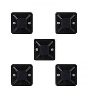 BUZIFU 100 Pièces Embases Adhesive pour Attache de Câble,19 mm x 19mm,Embase de Serrage Câble en Plastique,Embase avec Auto-Adhésif pour Collier de Serrage - Noir de la marque BUZIFU image 0 produit