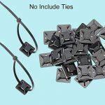 BUZIFU 100 Pièces Embases Adhesive pour Attache de Câble,19 mm x 19mm,Embase de Serrage Câble en Plastique,Embase avec Auto-Adhésif pour Collier de Serrage - Noir de la marque BUZIFU image 2 produit
