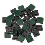 BUZIFU 100 Pièces Embases Adhesive pour Attache de Câble,19 mm x 19mm,Embase de Serrage Câble en Plastique,Embase avec Auto-Adhésif pour Collier de Serrage - Noir de la marque BUZIFU image 1 produit